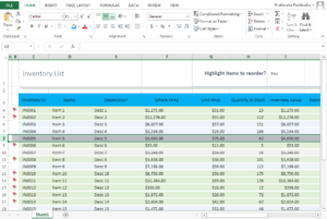 Freeze Rows In Excel Step 1