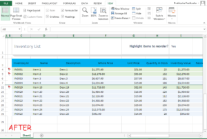 Freeze Rows In Excel Step 4