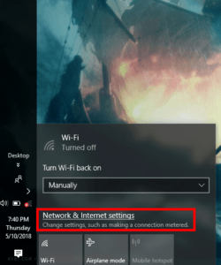 Open Network & Internet Setting