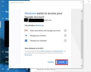 Windows 10 mail configure Step 6