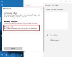 Windows 10 mail configure Step 8